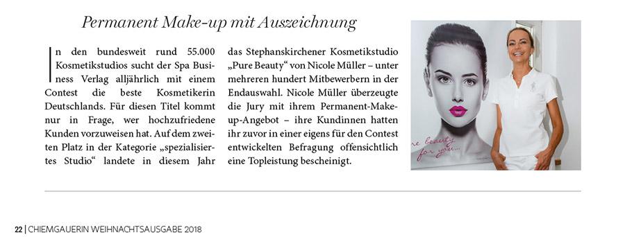 Beauty Nicole Mueller -Zeitungsbericht